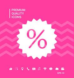 Sign percent symbol discount icon vector