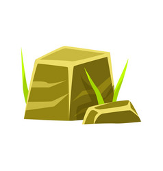 Smoothed square stones rocks in natural vector