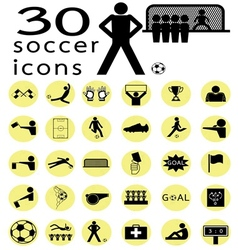 Soccer icon1 vector