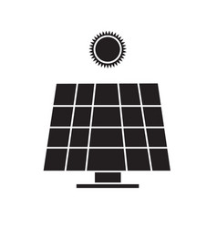 Solar energy panel icon on white background solar vector