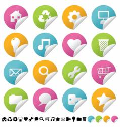 sticker vector image vector image