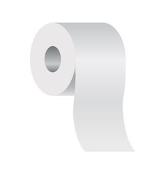 toilet paper isolated on white vector image