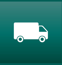Truck car fast delivery service shipping icon vector