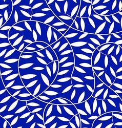 White vine leaves in a seamless pattern vector image