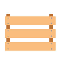 wooden basket flat in colorful silhouette over vector image vector image