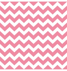 Zigzag pattern in baby pink isolated on white vector image