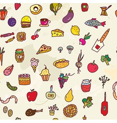 Food seamless graphic pattern funny design vector