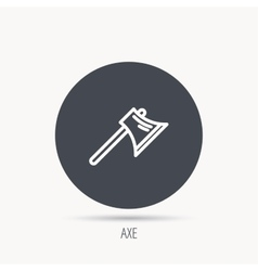 Axe icon worker equipment sign vector