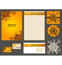 Corporate identity stationery for company vector