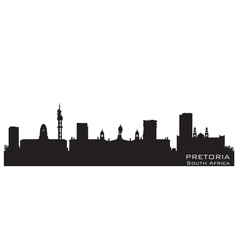 Pretoria South Africa skyline Detailed silhouette vector image