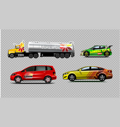 digital yellow red and green vector image
