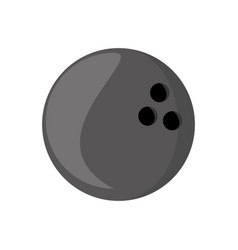 Isolated bowling ball vector