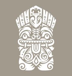 Tiki totem mask vector
