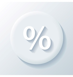 Percent paper icon vector
