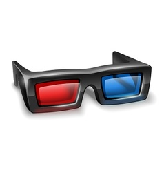 3d glasses for watching vector