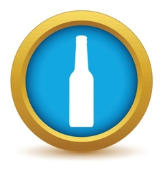 Gold bottle icon vector