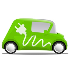 Electro car cartoon safe ecology vector