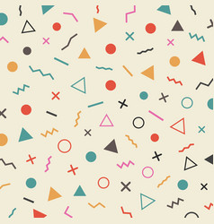 463retro hipster pattern vector