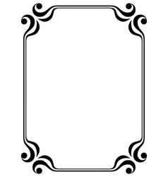 Filigree frame vector