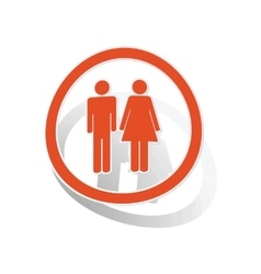 Man woman sign sticker orange vector