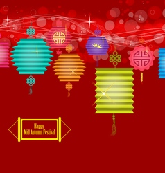 Background for traditional of chinese mid autumn vector
