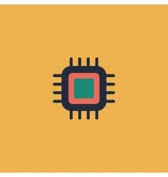 Flat icon of cpu vector