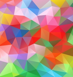 Spring colorful abstract polygon triangular vector