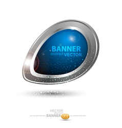 Round metal banner vector