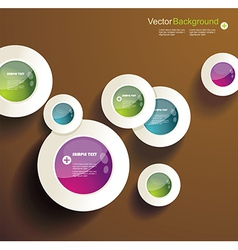 Abstract 3d circles background design vector image vector image