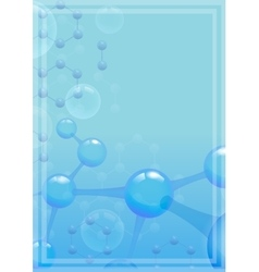 Abstract molecular background with blue molecule vector image