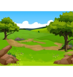 beauty forest with landscape background vector image vector image