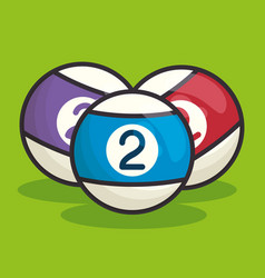 Billiard balls isolated icon vector