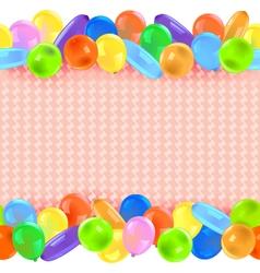 Border with balloons vector
