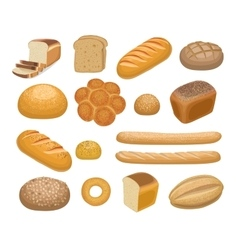 Bread bakery products vector