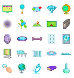 Breakthrough icons set cartoon style vector