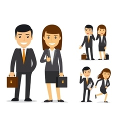 Business team characters vector