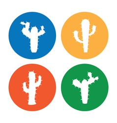 Cactus icons vector image vector image