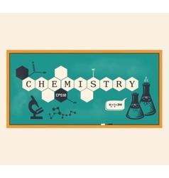 Chemistry background chemistry inscription vector image vector image