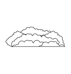 cloud cumulus monochrome in white background vector image vector image