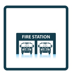 Fire station icon vector image
