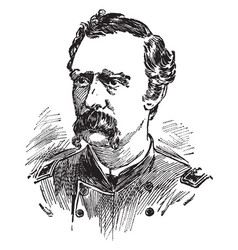 george armstrong custer vintage vector image vector image