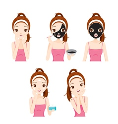 Girl Mask Face vector image