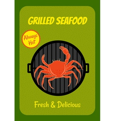 Grilled crab vector