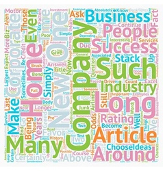 How Long Will Your Home Biz Company Be Around text vector image vector image