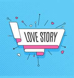 Love story retro design element in pop art style vector