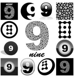 nine vector image