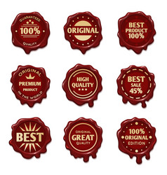 Old wax stamps with finest quality advertising vector