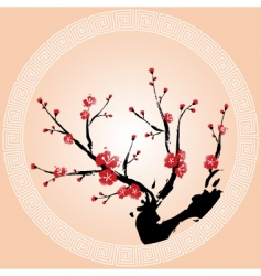 oriental plum blossom vector image vector image