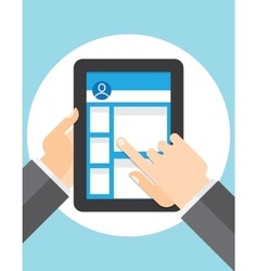 pageview Social Networks on the tablet vector image