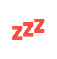 red paper made snoring sign vector image vector image